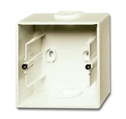 Коробка для открытого монтажа, 1-постовая серия Basic 55, цвет слоновая кость - фото 110186