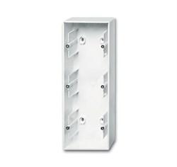 Коробка для открытого монтажа, 3-постовая, серия Basic 55, цвет альпийский белый - фото 110191