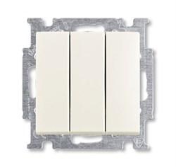 Механизм 3-клавишного, 1-полюсного выключателя, с клавишей, 16 А / 250 В, серия Basic 55, цвет chalet-white - фото 110210