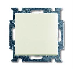 Механизм 1-клавишного, 1-полюсного переключателя с клавишей, серия Basic 55, цвет chalet-white - фото 110222