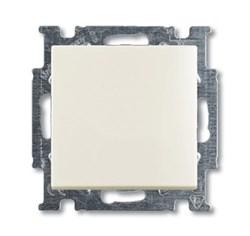 Механизм 2-клавишного, 1-полюсного переключателя с клавишей, серия Basic 55, цвет chalet-white - фото 110226