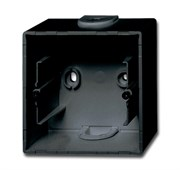 Коробка для открытого монтажа, 1-постовая серия Basic 55, цвет ch?teau-black