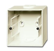 Коробка для открытого монтажа, 1-постовая серия Basic 55, цвет слоновая кость