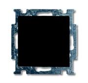 Механизм 1-клавишной, 1-полюсной кнопки (нормально-открытый контакт), с N-клеммой, с клавишей, серия Basic 55, цвет ch?teau-black