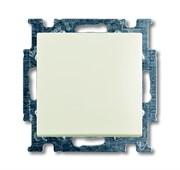 Механизм 1-клавишной, 1-полюсной кнопки (нормально-открытый контакт), с N-клеммой, с клавишей, серия Basic 55, цвет chalet-white