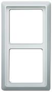 Рамка 2-постовая, серия Allwetter 44, цвет альпийский белый
