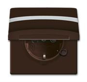 Розетка SCHUKO, 16А 250В, с крышкой, с защитными шторками, уплотнительное кольцо в комплекте,  c полем для надписи, серия Allwetter4