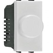 Механизм электронного поворотного светорегулятора 500 Вт, 1-модульный, серия Zenit, цвет альпийский белый