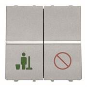 Механизм выключателя Не беспокоить/Уборка номера, 2-модульный, серия Zenit, цвет альпийский белый