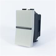 Механизм 1-клавишного 1-полюсного выключателя с клавишей, 1-модульный, серия Zenit, цвет альпийский белый