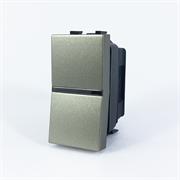 Механизм 1-клавишного 1-полюсного выключателя с клавишей, 1-модульный, серия Zenit, цвет шампань