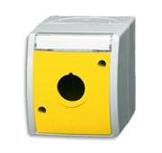 Корпус для командно-сигнальных приборов D=22.5 мм, с полем для надписи, серия ocean, цвет жёлтый