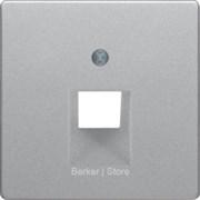 Центральная панель для розетки UAE, Q.1/Q.3, цвет: алюминиевый, бархатный лак