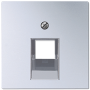 Jung Крышка для одинарной розетки UAE; алюминий, арт. A569-1PLUAAL